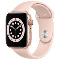 Apple Watch Series 6 GPS+LTE 40mm Gold Aluminium Case with Pink Sand Sport Band (M06N3)