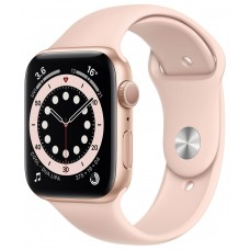 Apple Watch Series 6 GPS 40mm Gold Aluminium Case with Pink Sand Sport Band (MG123)