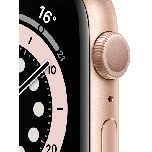 Apple Watch Series 6 GPS 44mm Gold Aluminium Case with Pink Sand Sport Band (M00E3)
