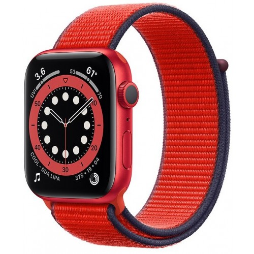 Apple Watch Series 6 GPS 40mm Product Red Aluminium Case with Red Sport Loop (M02C3)