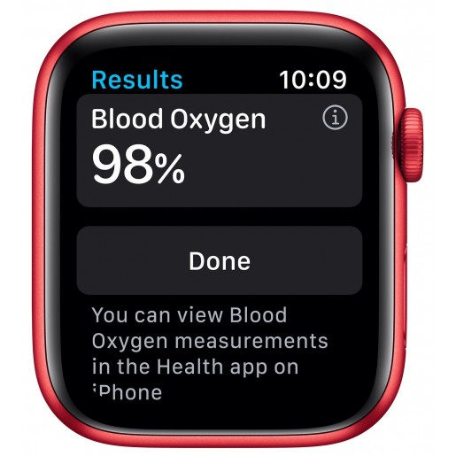 Apple Watch Series 6 GPS 44mm Product Red Aluminium Case with Red Sport Band (M00M3)