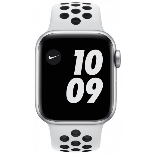 Apple Watch Series 6 GPS 40mm Silver Aluminium Case with Pure Platinum/Black Nike Sport Band (M00T3)