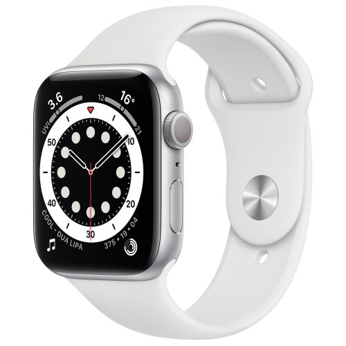 Apple Watch Series 6 GPS 40mm Silver Aluminium Case with White Sport Band (MG283)
