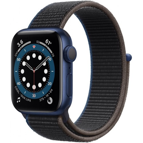 Apple Watch Series 6 GPS 44mm Blue Aluminium Case with Charcoal Sport Loop (M02G3)